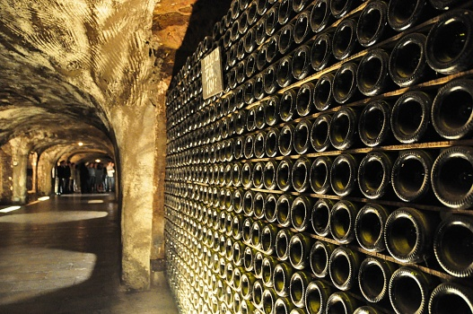 Thousands of underground bottles of wine